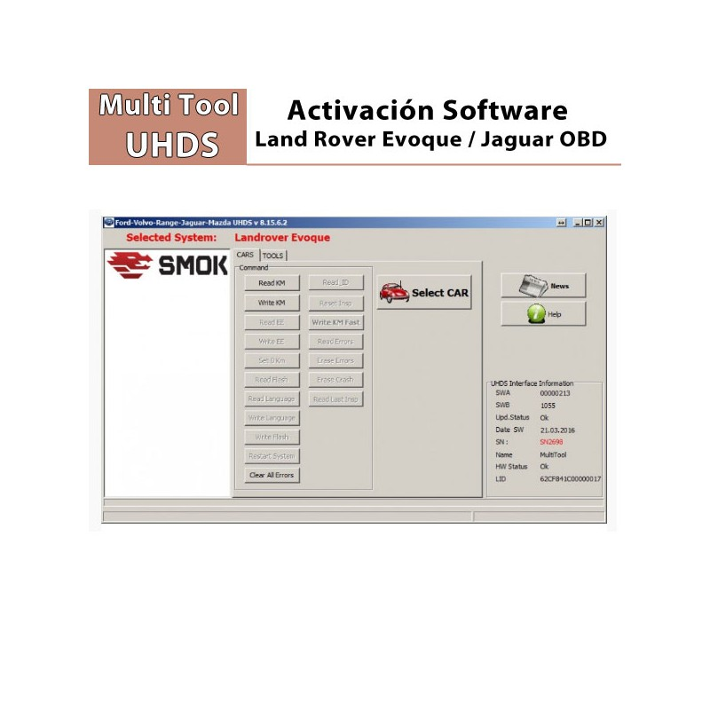 Activación software Smok Evoque OBD