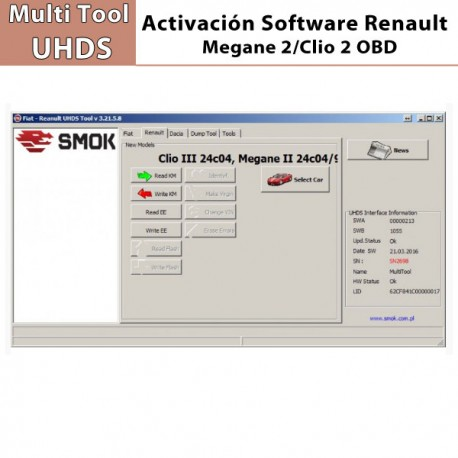 activaci n software smok renault megane 2 clio 2 obd. Black Bedroom Furniture Sets. Home Design Ideas