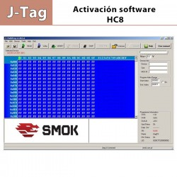 Activación Software JG 0008 HC08 J-Tag