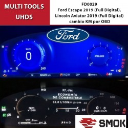 FD0029 Ford Escape 2019 (Full Digital), Lincoln Aviator 2019 (Full Digital) change KM by OBD